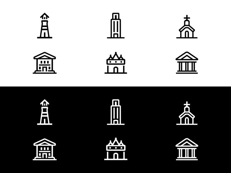 city icon icon logo 复古 设计 图标 ui