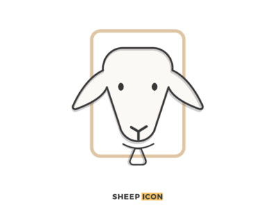 Sheep Icon outline illustration outline icon icon branding illustrator design ux outline icons logo branding logos graphics illustration
