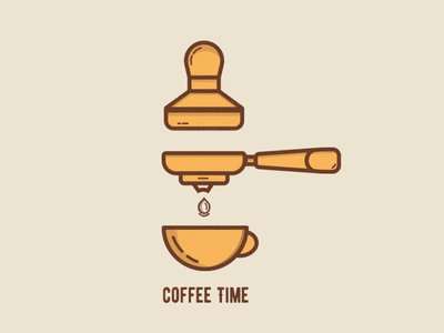 Coffee Time Icons web outline illustration illustrator logos ui ux outline icons icon vector illustration