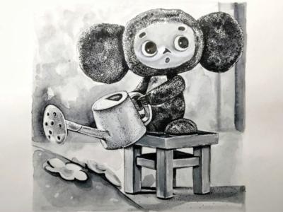 Чебурашка conceptart character sketch