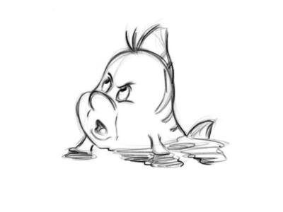 Флаундер 🌊🐬✨ sketch character conceptart