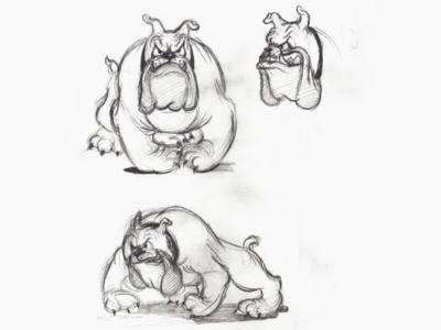 """Spike 🐕 """"Tom and Jerry"""" sketch illustration designe"""