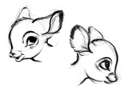 Bambi 🖤🌿 sketch sketch illustration designe