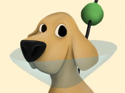 Martini animal art dog design animal digital illustration