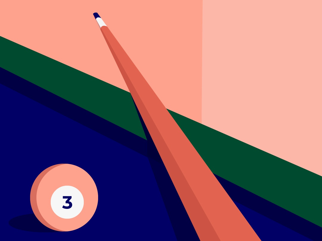 Create your own opportunity game billiard design vector digital illustration