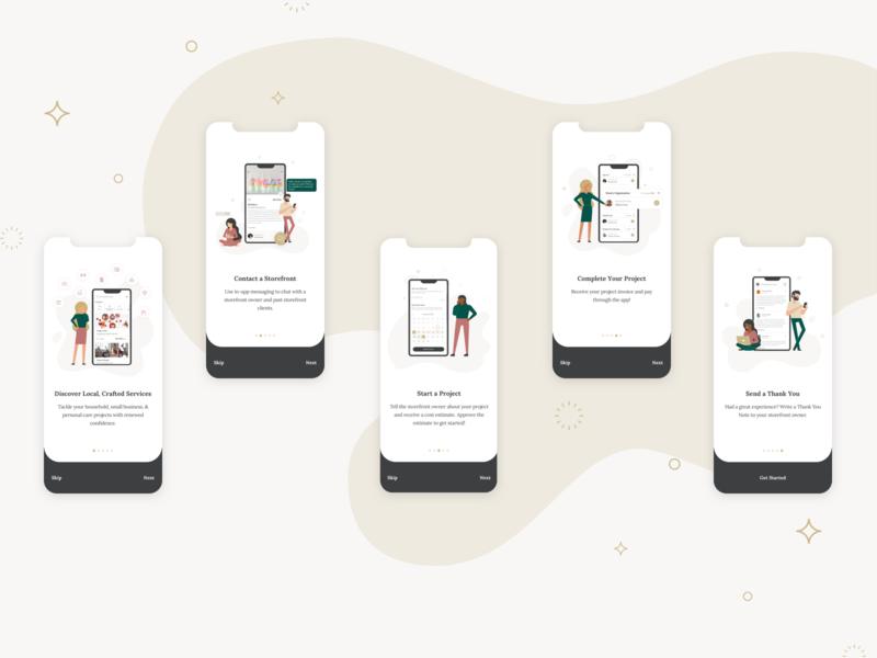 West Tenth - iOS App - Onboarding modern services online buyer storefront women community ideation minimalist creative design branding ux ui app ios