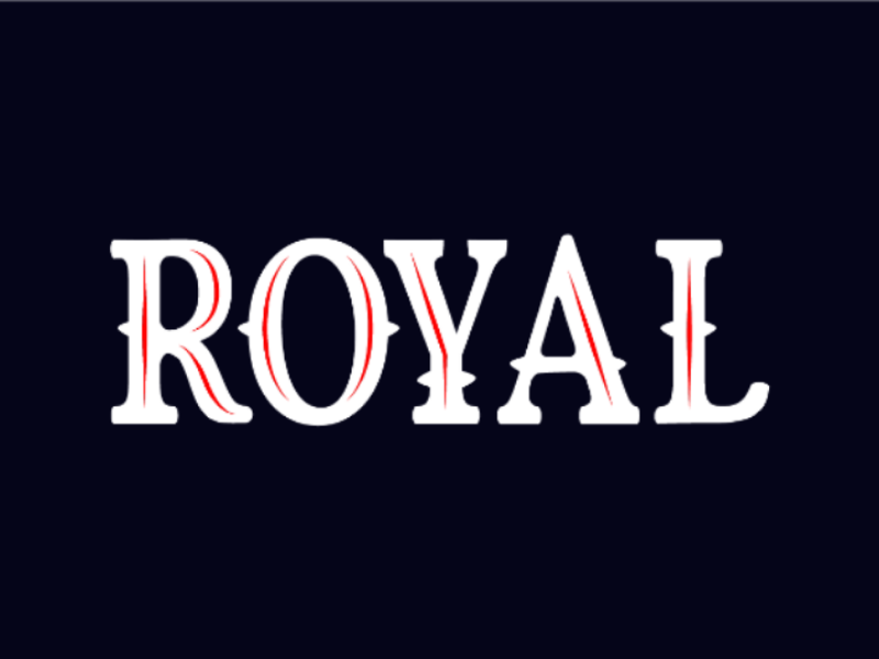 Royal Logo typography ux ui illustrator photoshop design logo