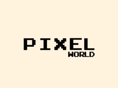 Pixel World Typography