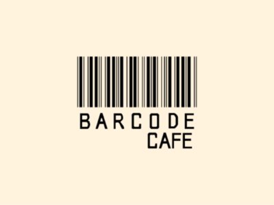 Barcode Cafe Typography