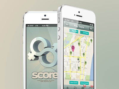Score iphone ios app dating score gui design interface apple