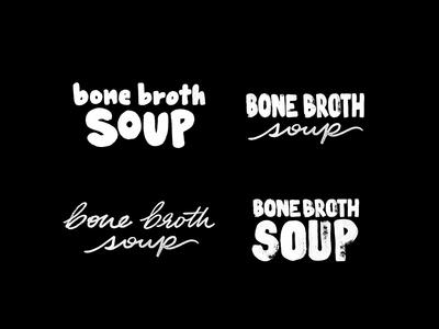 Handwritten Type for Parks & Nash Soups