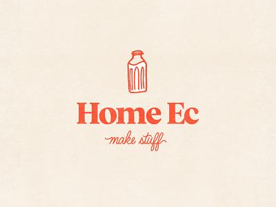Home Ec Logo Design hand drawn type home ec milk typography mark brand design identity brand design branding logo design logo brand identity
