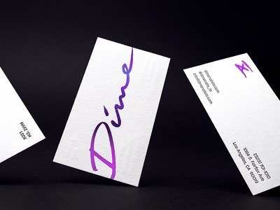 Dime Nails Business Cards brand identity brand and identity business card design business cards edgy retro gradient letterpressed gradient foil logo design logo brand design branding designer branding 80s style 80s