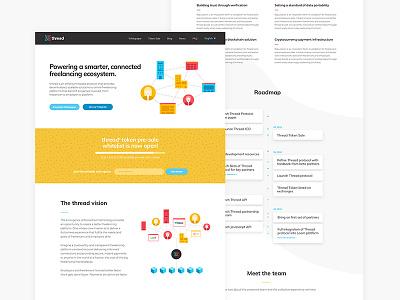 Thread Brand Identity & Digital digital blockchain freelance community connection website website design brand design identity color palette brand brand identity logo design logo design branding
