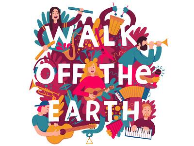 Walk Off The Earth fanart wote walk off the earth colorful flatdesign flat procreate illustration fanart
