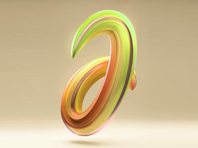 "THE ""J"" IS FOR JILLIPP yellow orange green tropical 3dtype studio 3d letters liquid design blender 3d illustration 3d 3d art abstract colorful"