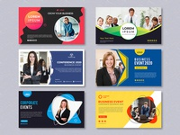 Abstract business banner template । free Psd templates