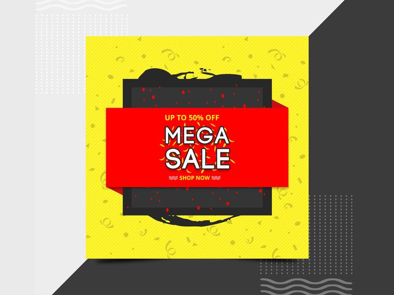 Mega sale social media banner