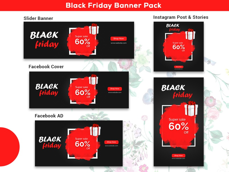 Black Friday Sale Banner Pack Template