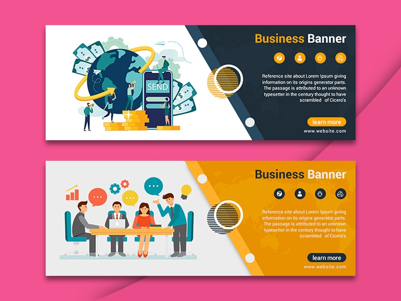 Banner Design Vectors and PSD files | Free Download