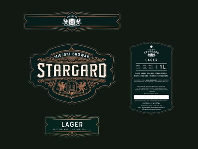 Logos and labels for Mircrobrewery & restaurant