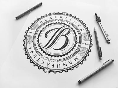 Blackliner branding handlettering vintage logotype hand lettering type logo calligraphy lettering typography