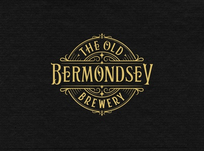 The Old Bermondsey Brewery brewery beer branding handlettering vintage logotype hand lettering type logo calligraphy lettering typography