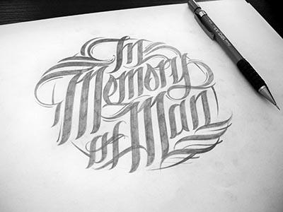 In memory of man