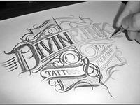 Divineink Logo Sketch