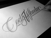 Cody Wheeler Photographer logo sketch