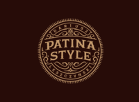 Patina Style branding handlettering vintage logotype hand lettering type logo calligraphy lettering typography
