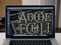 The Alphabet poster hotstamping print poster handlettering vintage logotype hand lettering type logo calligraphy lettering typography