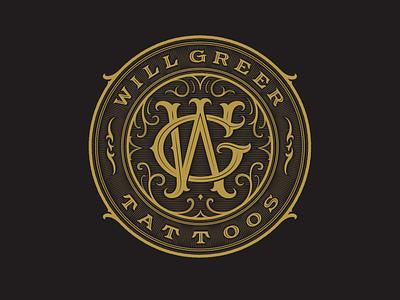 Will Greer Tattoos Badge logo branding handlettering vintage logotype hand lettering type logo calligraphy lettering typography