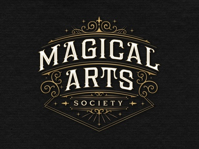 Magical Arts Society custom lettering branding vintage logotype hand lettering type logo calligraphy lettering typography