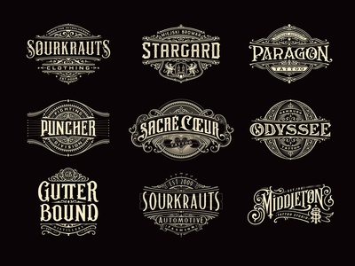 Logos and letters illustrator branding handlettering vintage logotype hand lettering type logo calligraphy lettering typography