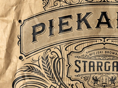 Piekarnia- The Bakery craft paper bakery retro icon mark badge logotype type hand lettering logo lettering typography