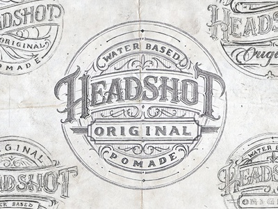 Headshot Pomade calligraphy typography type sketch drawing lettering hand lettering vintage apparell graphic design fashion