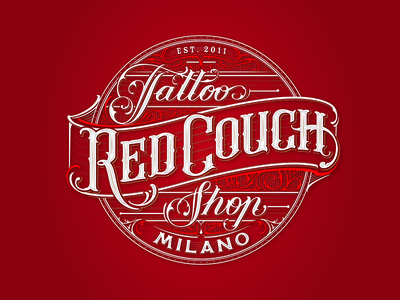 Red Couch Tattoo calligraphy typography type sketch drawing lettering hand lettering vintage apparell graphic design fashion