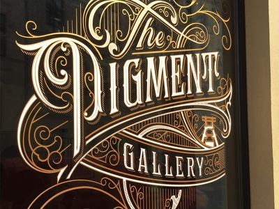 The Pigment Gallery t concept drawing ink sketch branding tattoo handlettering lettering typography type logo