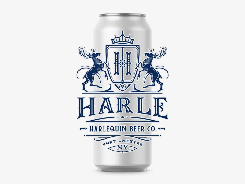 Harle Beer retro concept ink can branding handlettering lettering typography type logo