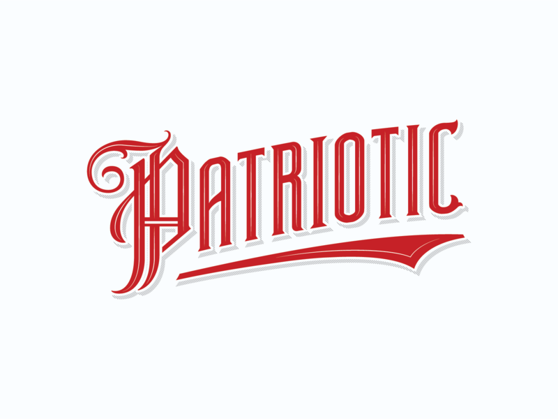 Patriotic classic sign retro identity handmade drawing sketch custom lettering handlettering branding vintage logotype hand lettering type logo calligraphy lettering typography