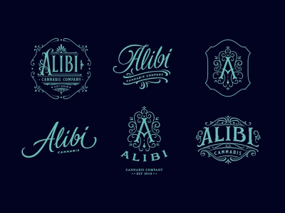 Logos and marks for the cannabis brand design identity custom lettering handlettering branding vintage logotype hand lettering logo type calligraphy lettering typography
