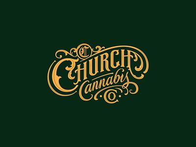 Logo for the cannabis brand custom lettering handlettering branding vintage logotype hand lettering type logo calligraphy lettering typography