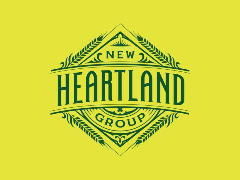 New Heartland Group handmade custom lettering handlettering branding vintage logotype hand lettering type logo calligraphy lettering typography