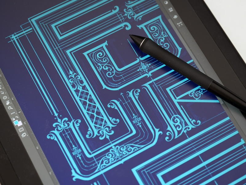 Rocket into the future digital painting neon blue neon digital lettering digital handlettering logotype hand lettering type logo calligraphy lettering typography