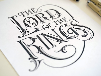 The Lord of the Rings lord of the rings title book cover book custom lettering logotype hand lettering type logo calligraphy lettering typography