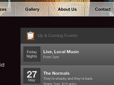 Events events opacity css gradients
