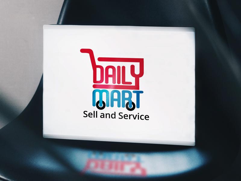Daily Mart-Logo Design logo 2019 new logo music band logo brand identity e-shopping branding design logo