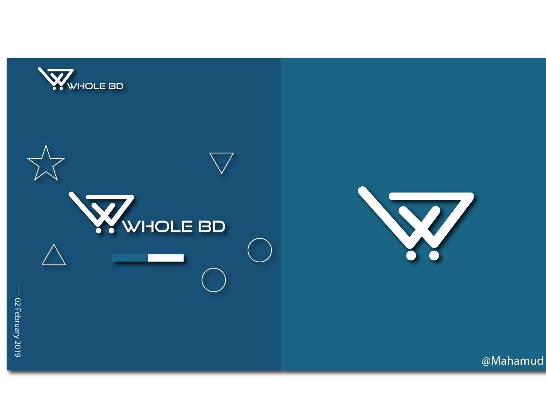 WHOLE BD-Logo design logo a day icon ecommerce illustration design new logo branding brand identity e-shopping logo