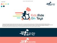 KIDS RIDE ON TOYS-logo design